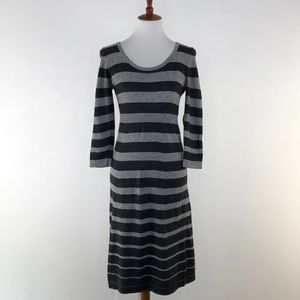 Boden Two-Tone Gray Sweater Dress, Size 6